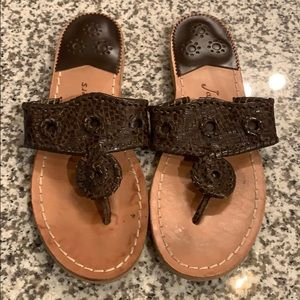 Jack Rogers Brown Sandals